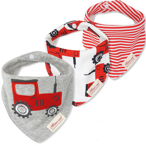 100% Cotton Bandana Bibs (3Piece)