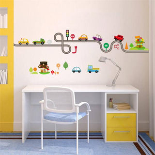 Removable Wall Sticker Highway Transport