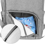 Grey Baby Bag + 2 Stroller Hooks-Baby Bag-DEj KidS NZ