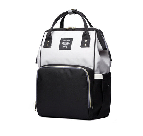 Black & Light Grey Baby Bag