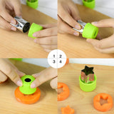 4 Piece Fruit Cutters
