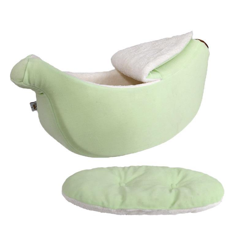 Green Banana Soft Pet Bed-Bed-PawPawDear
