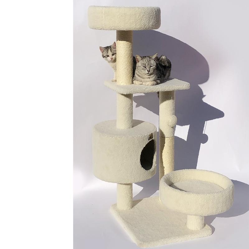 114cm Scratching Multi Level Cat Tree - Pet Supplies - PawPawDear