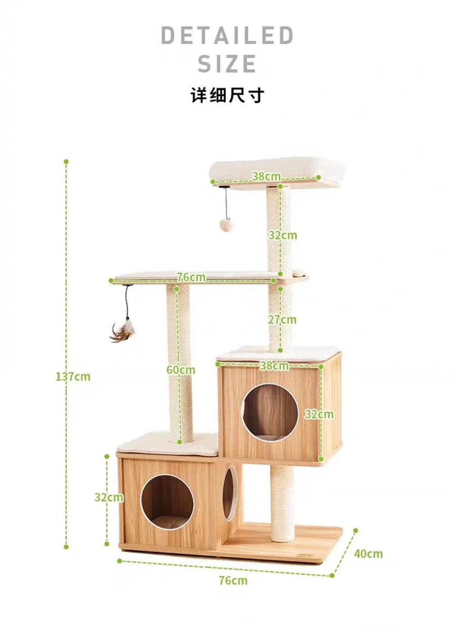 137cm Wooden Cat Tree