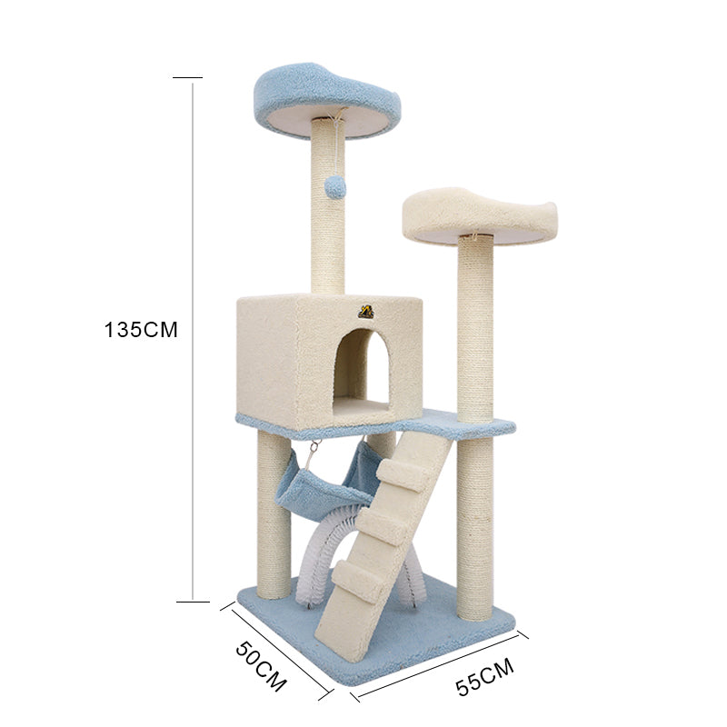 136cm Scratching Multi Level Cat Tree