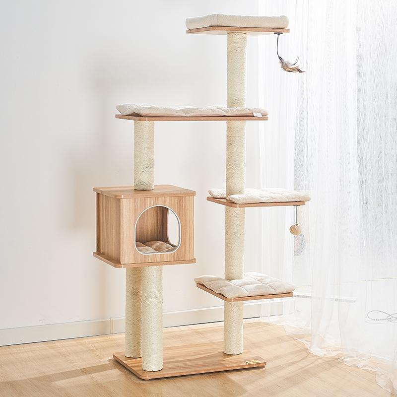 150cm Wooden Cat Tree - Pet Supplies - PawPawDear