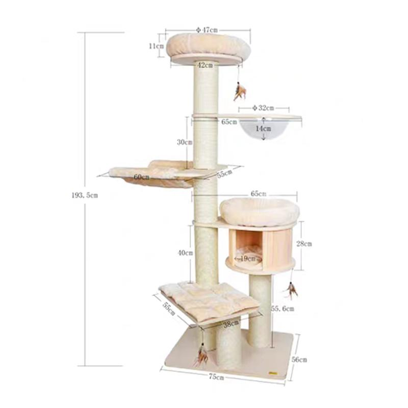 PRE-ORDER|Catry 200cm Deluxe Capsule Cat Tree-Cat Toys-PawPawDear