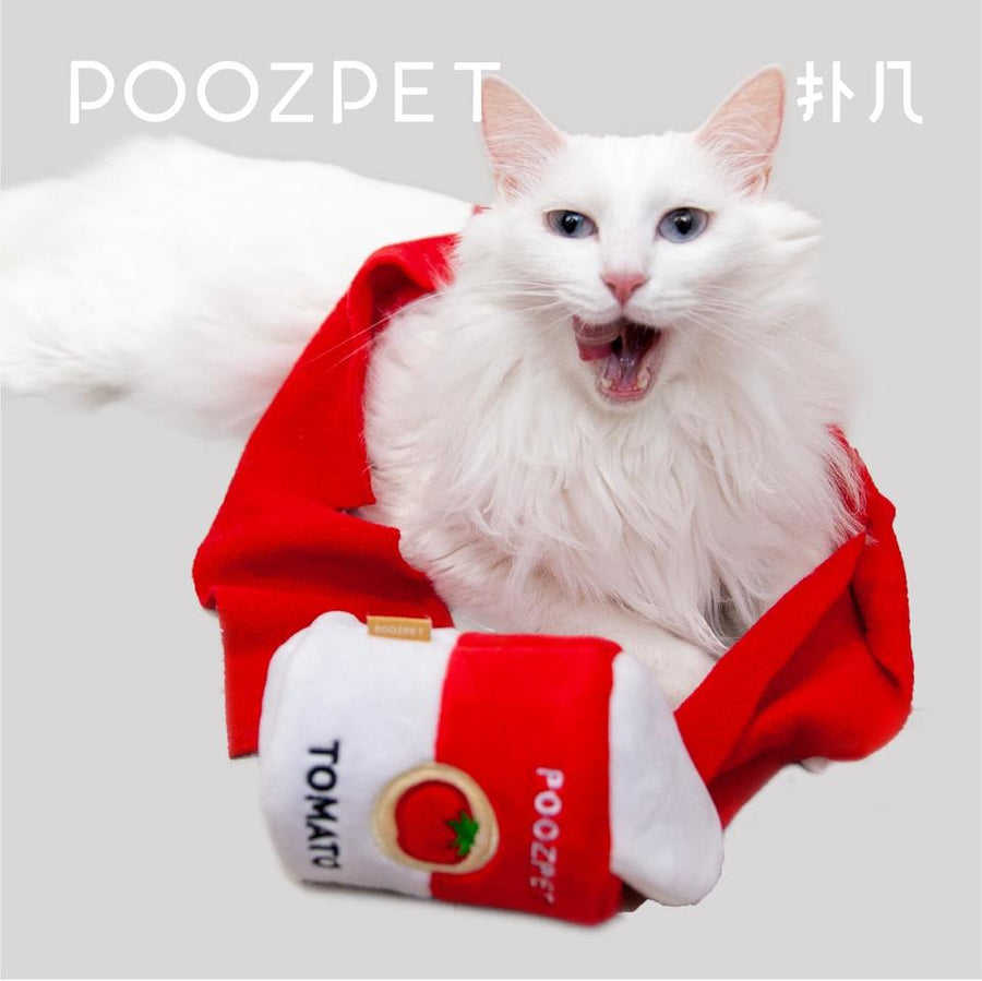 POOZPET Pet Training & Relaxing Toy - Tomato Can - Pet Supplies - PawPawDear