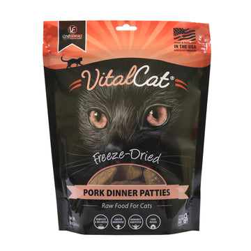 【VITAL ESSENTIALS VE】VC Cat Freeze-Dried Raw Mini Patties - Pok 8 Oz
