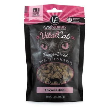 【VITAL ESSENTIALS VE】Cat Freeze-Dried Treats - Chicken Giblets 1 oz