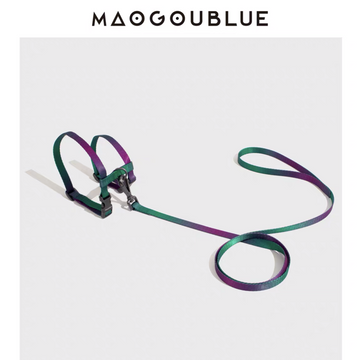 MAOGOUBLUE | Cat Harness and Leash Set - Green Purple