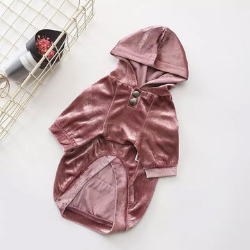 Metallic Velvet Hoodie - Pet Supplies - PawPawDear