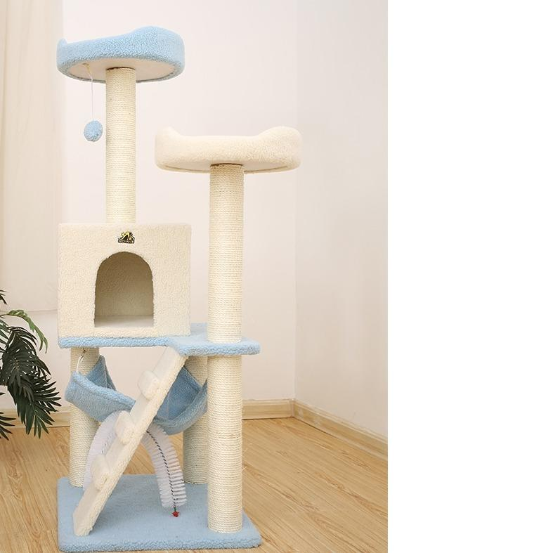 136cm Scratching Multi Level Cat Tree - Pet Supplies - PawPawDear
