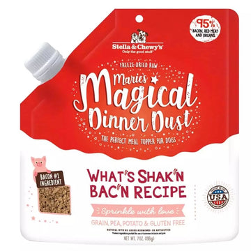 【Stella & Chewy's】Marie's Magical Dog Dinner Dust What's Shak'n Bac'n Topper 7oz