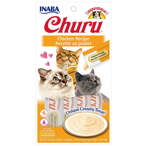 Inaba Churu Purées Cat Treat - Chicken-Treats-PawPawDear