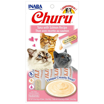 Inaba Churu Purées Cat Treat - Tuna with Salmon-Treats-PawPawDear