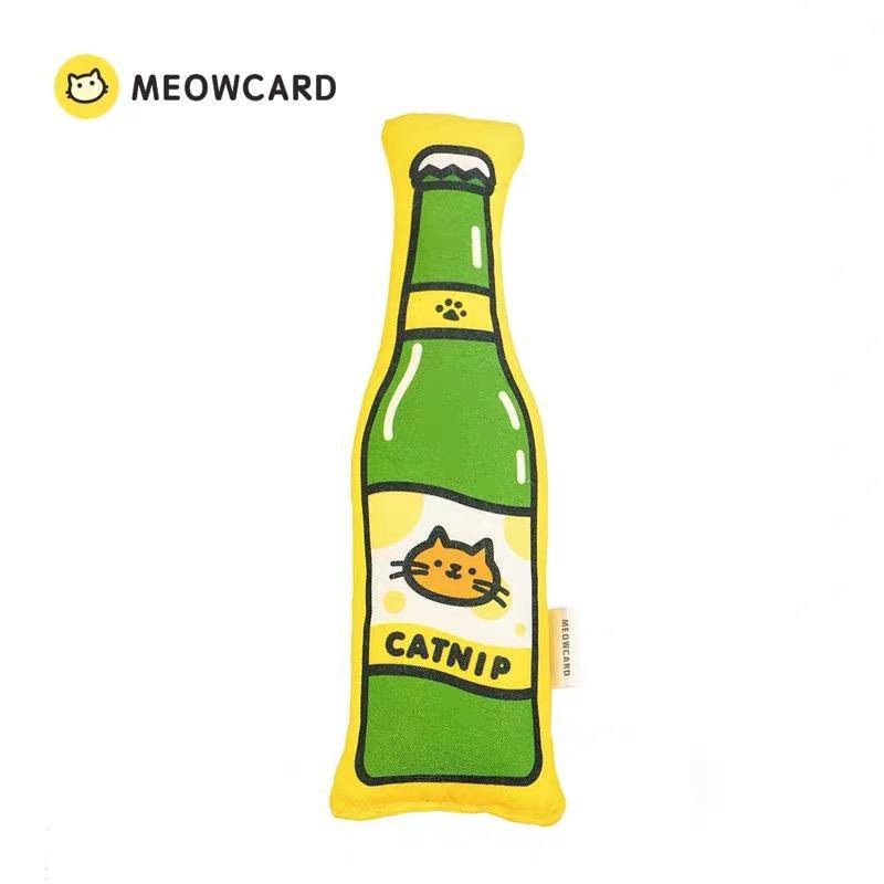 MEOWCARD CATNIP CAT TOY - BEER - Pet Supplies - PawPawDear