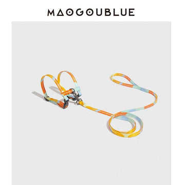 MAOGOUBLUE | CAT HARNESS AND LEASH SET - SUNSET YELLOW - Pet Supplies - PawPawDear
