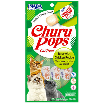 Inaba Churu Pops Cat Treat - Tuna with Chicken-Treats-PawPawDear