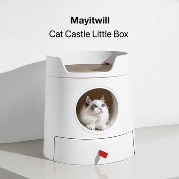 MAYITWILL Castle Cat Litter Box