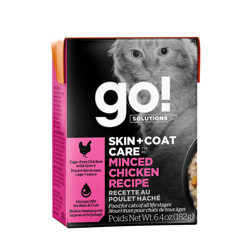 Go! Solutions Skin + Coat Care Recipe for Cats - Minced Chicken