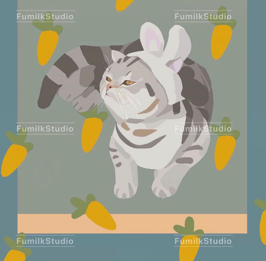 Customized Pet's Profile Painting (ELECTRONIC)-PawPawDear