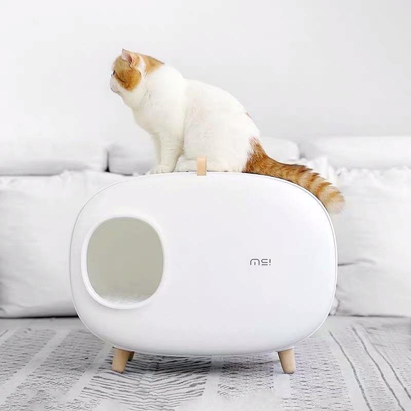 Makesure Cat Litter Box - WHITE