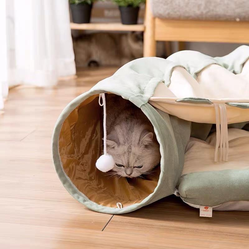 Cat Tunnels Toy Cat Bed - Matcha - Pet Supplies - PawPawDear