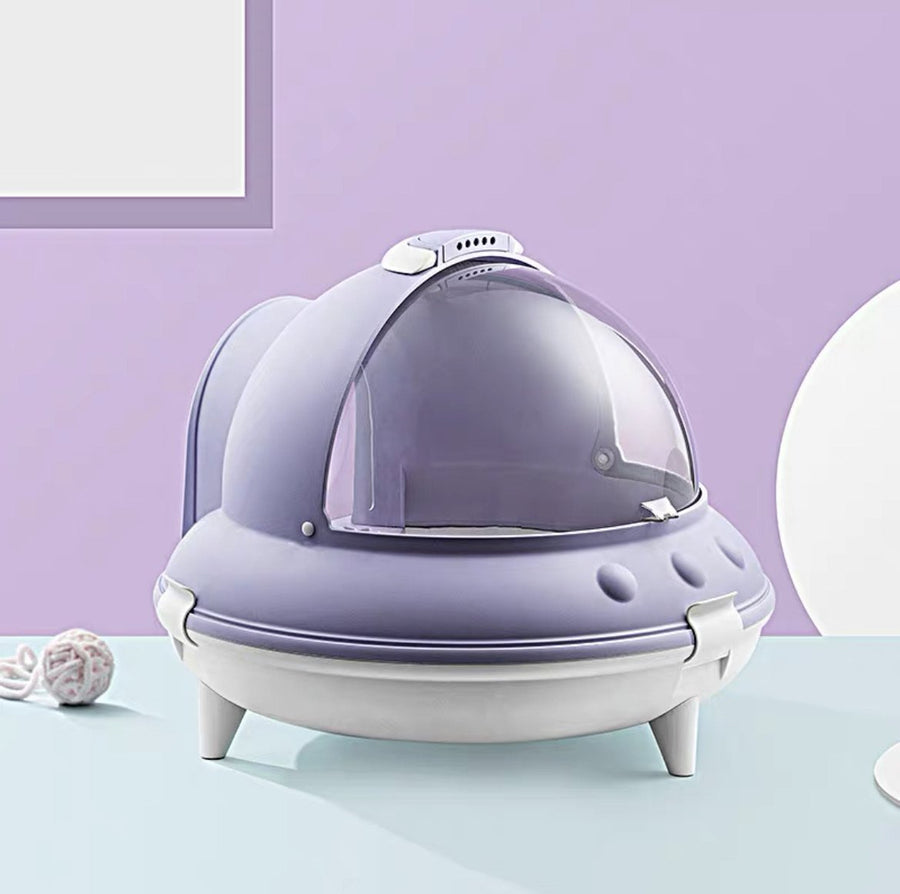 EVERCUTE CAT LITTER BOX - PURPLE - Pet Supplies - PawPawDear