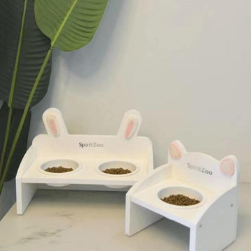 Rabbit Dining Table-Cat Bowls-PawPawDear