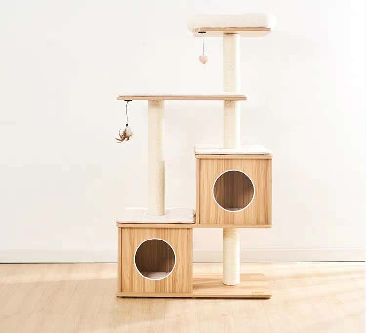 137cm Wooden Cat Tree - Pet Supplies - PawPawDear
