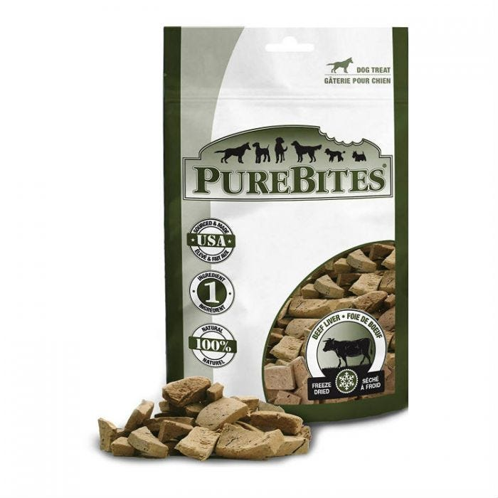PureBites Dog Treat - Freeze Dried Beef Liver 57g