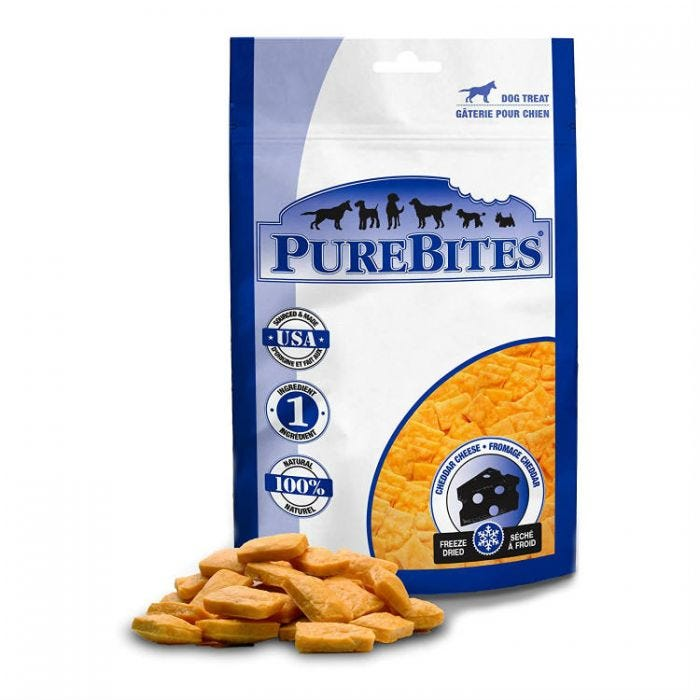 PureBites Dog Treat - Freeze Dried Cheddar Cheese