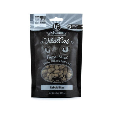 【VITAL ESSENTIALS VE】Vital Cat Freeze-Dried Cat Treats - Rabbit Bites 0.9 oz