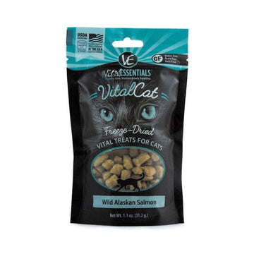 【VITAL ESSENTIALS VE】Vital Cat Freeze-Dried Cat Treats - Wild Alaskan Salmon 1.1 oz