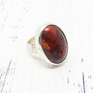 Red Jasper Ring size 7.5