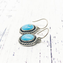 Load image into Gallery viewer, Twisted Turquoise Earrings