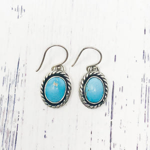 Twisted Turquoise Earrings