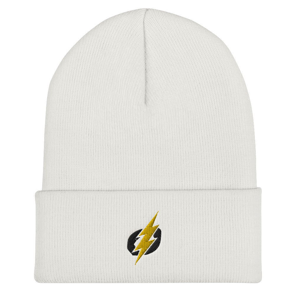 Cuffed Beanie -Black/Yellow Bolt