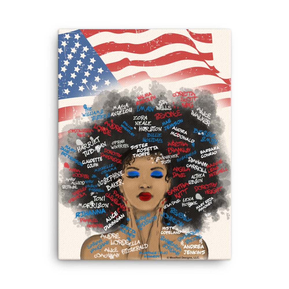 Juneteenth Canvas (Red White Blue)
