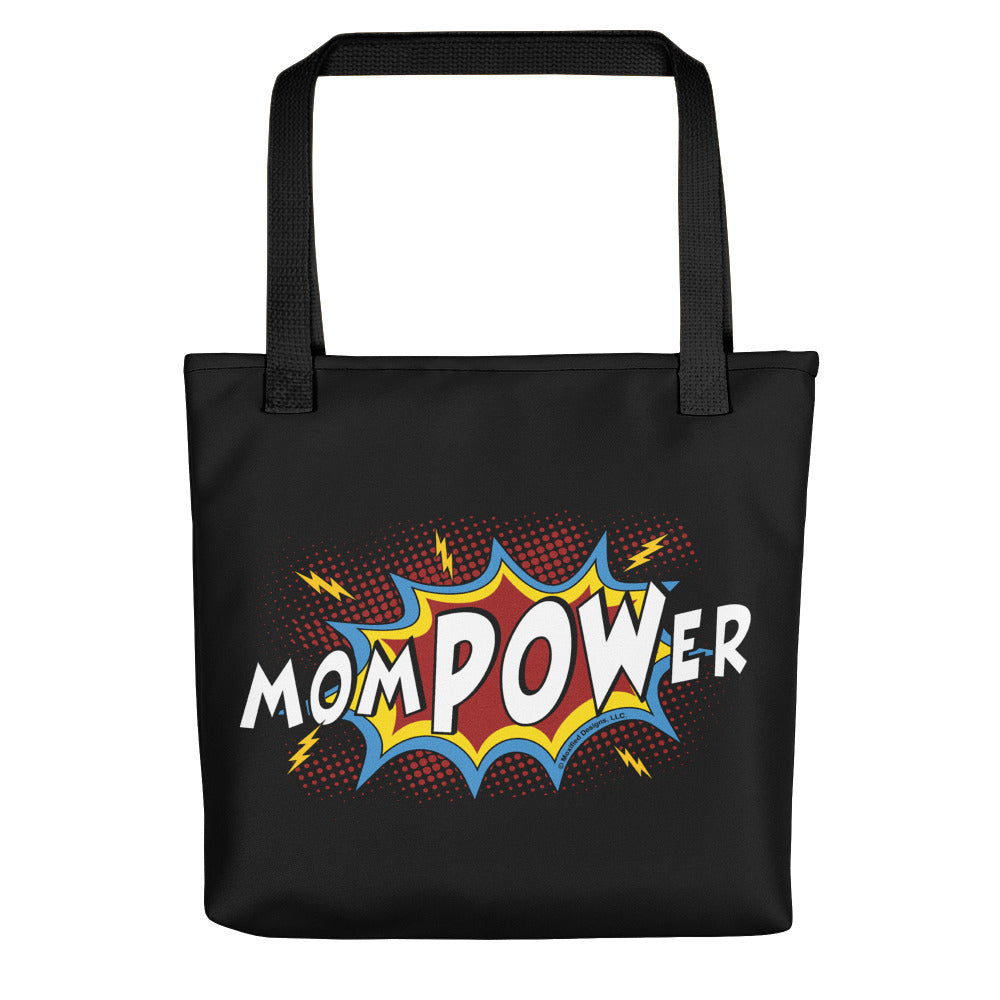 momPOWer Tote bag (Black Bag, Multi Design)