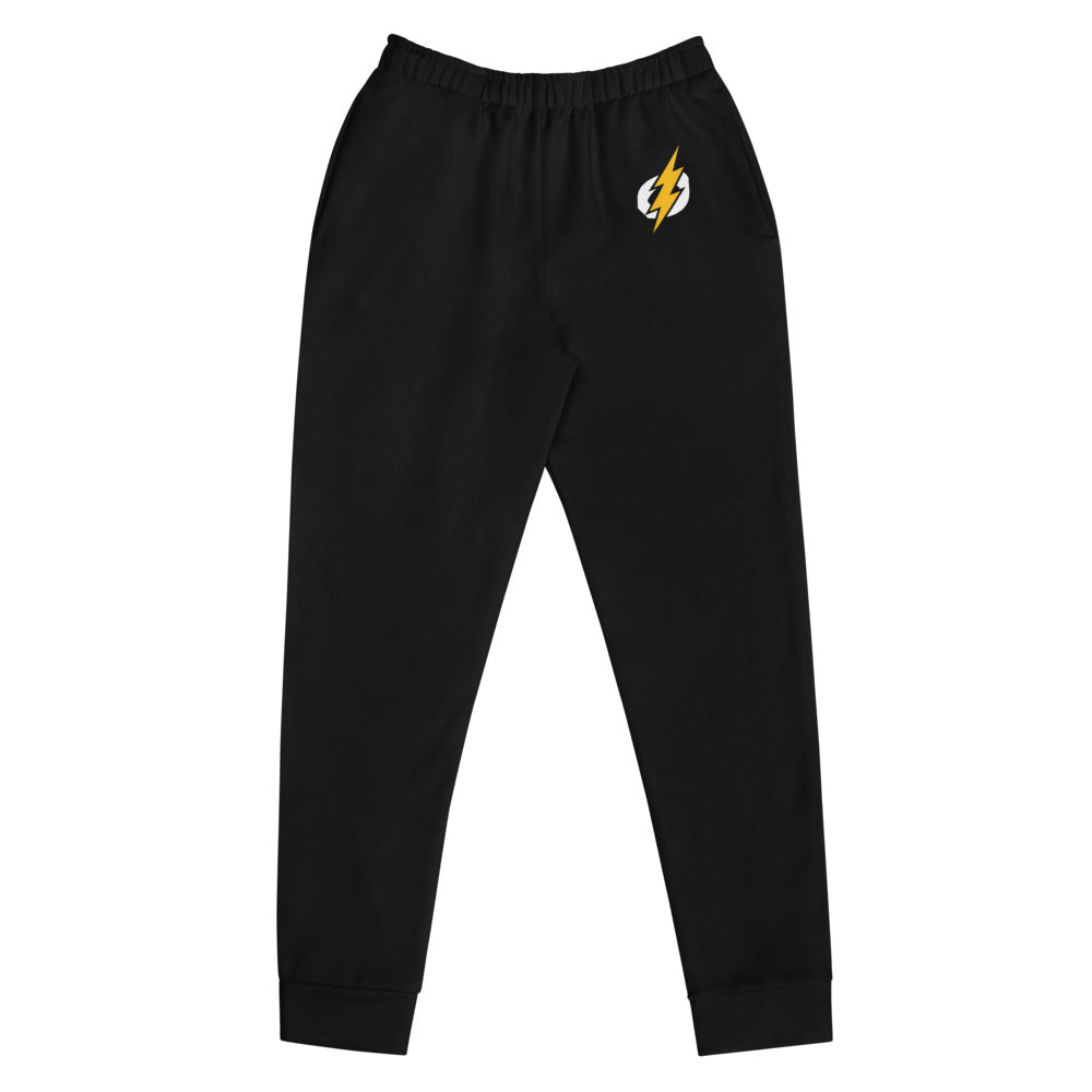 Women's Accent Logo Joggers (Black Joggers, Yellow/White Logo)