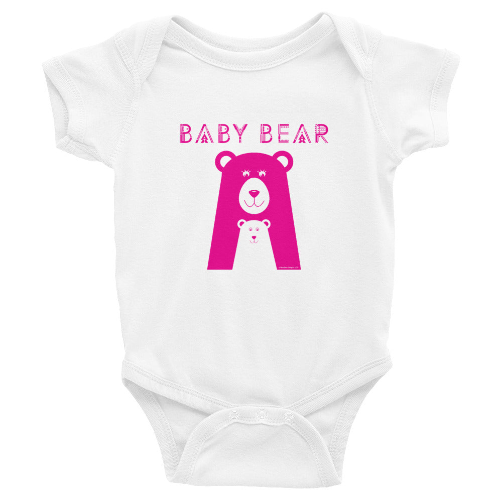 Baby Bear Infant Bodysuit (Pink Design)