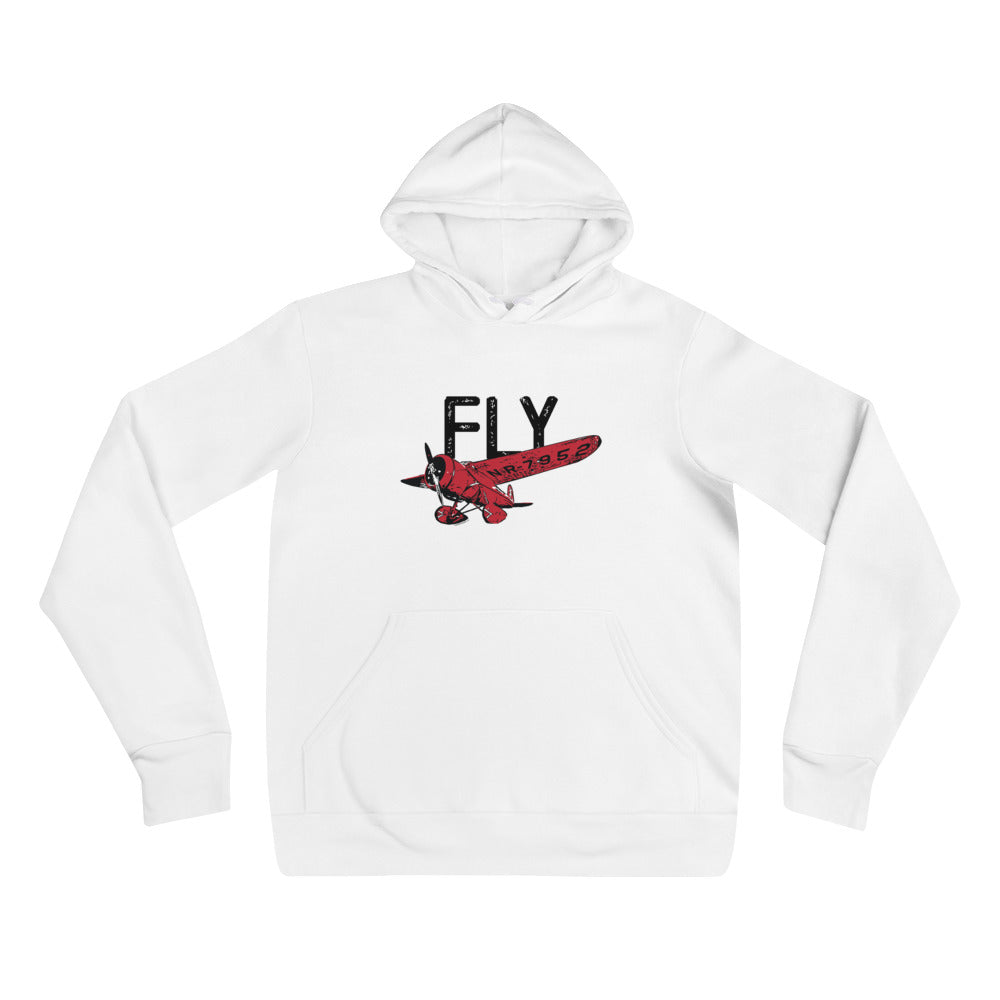 FLY Adult Unisex Hoodie (Red Design)