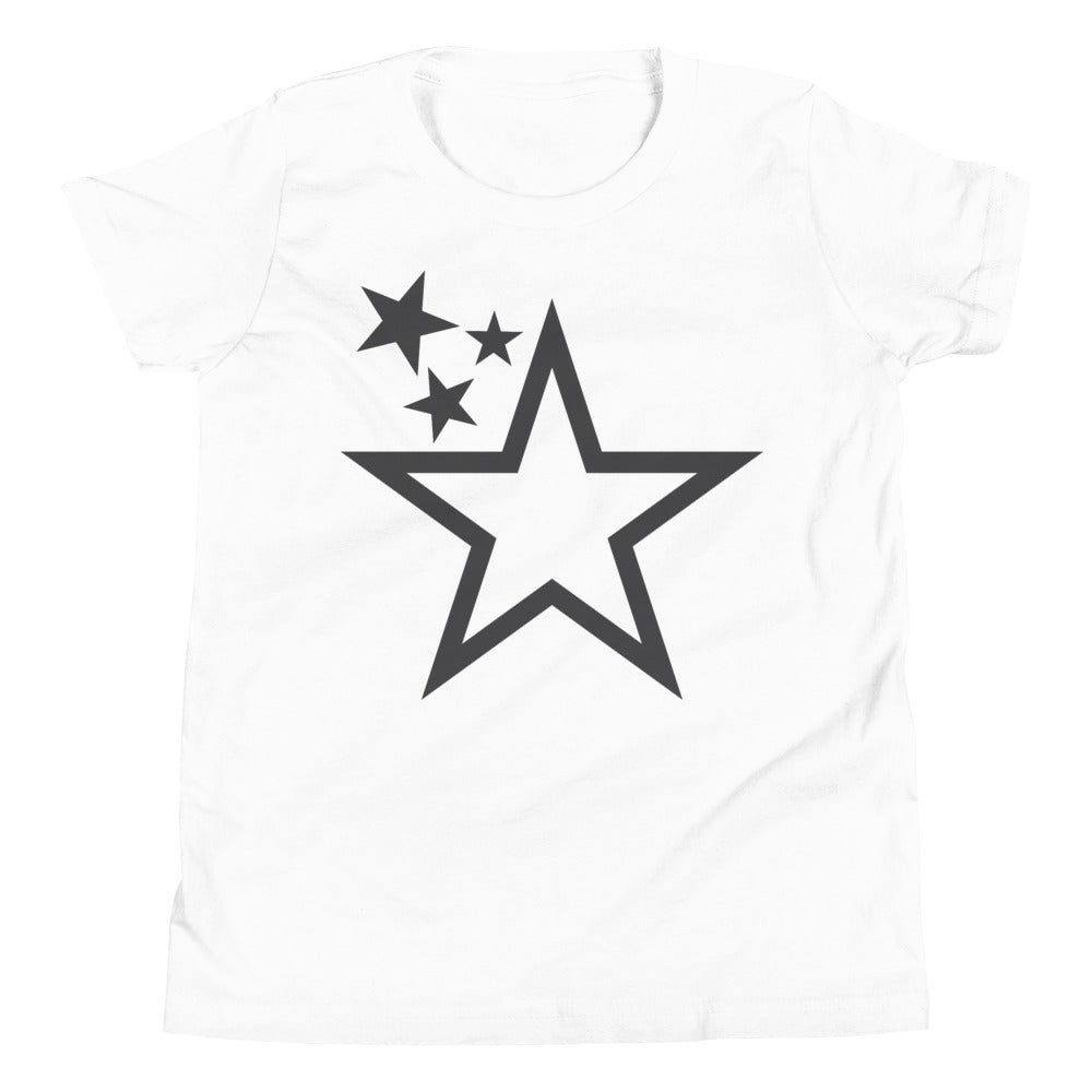 Youth Superstar Standard Tee (Charcoal Grey Stars)