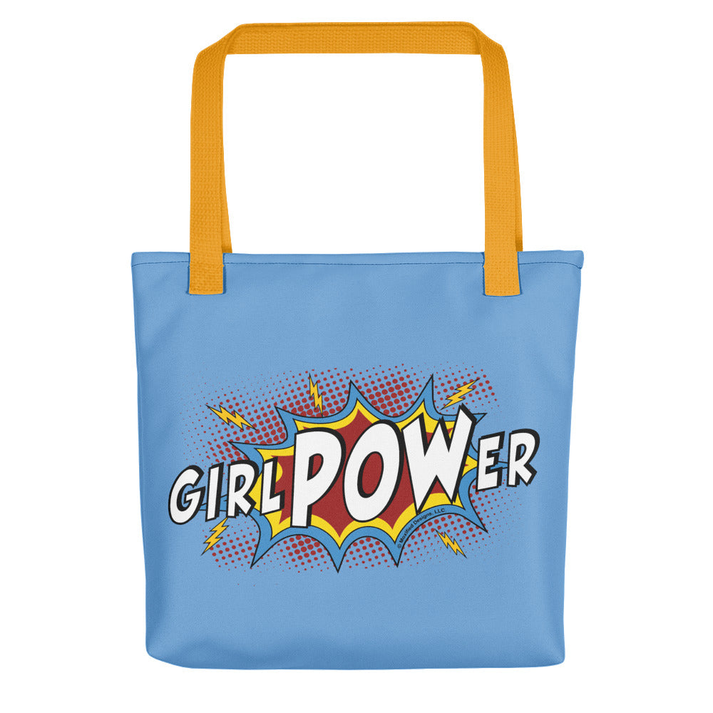 girlPOWer Tote (Blue Bag, Multi Design)