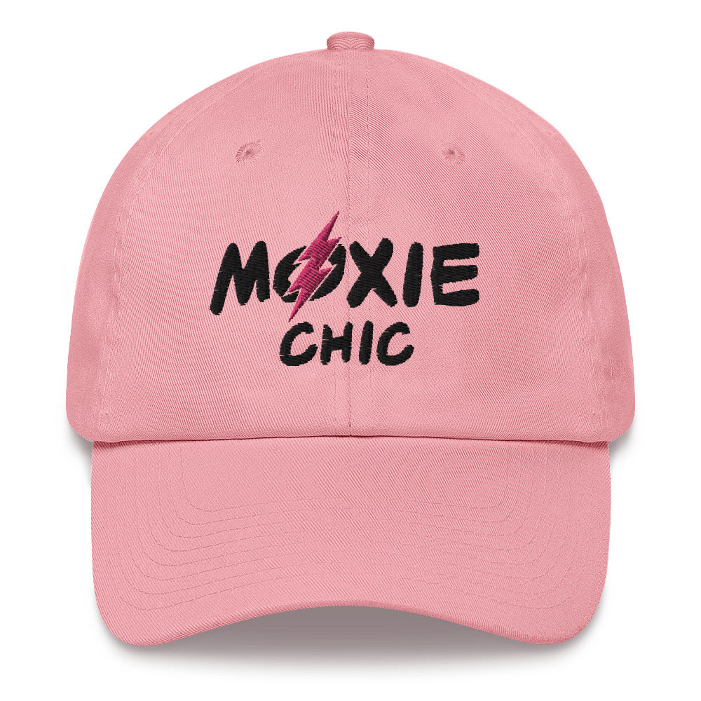 Baseball Hat - Black/Pink Logo