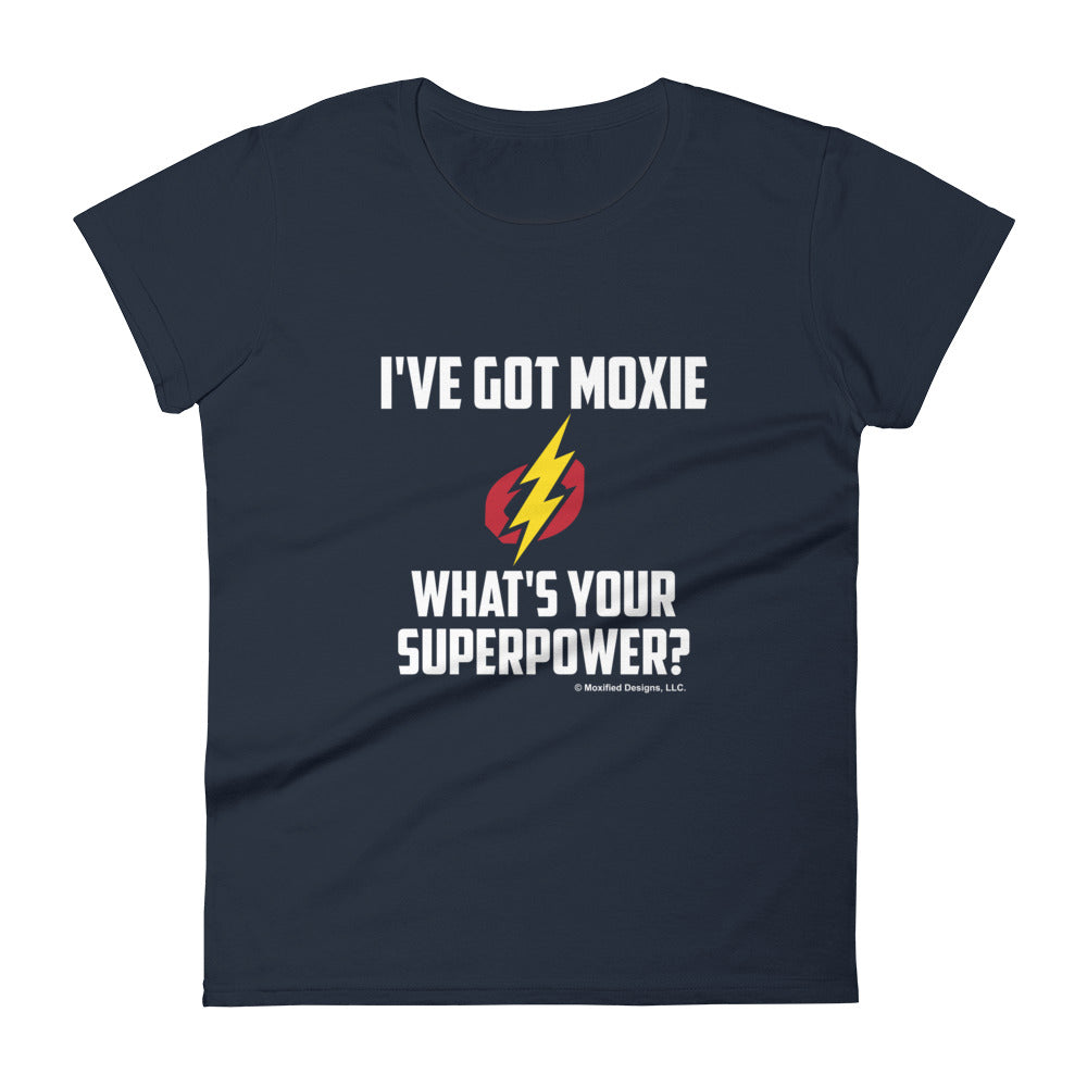 Superpower Women's Semi-Fitted Tee (White Text)