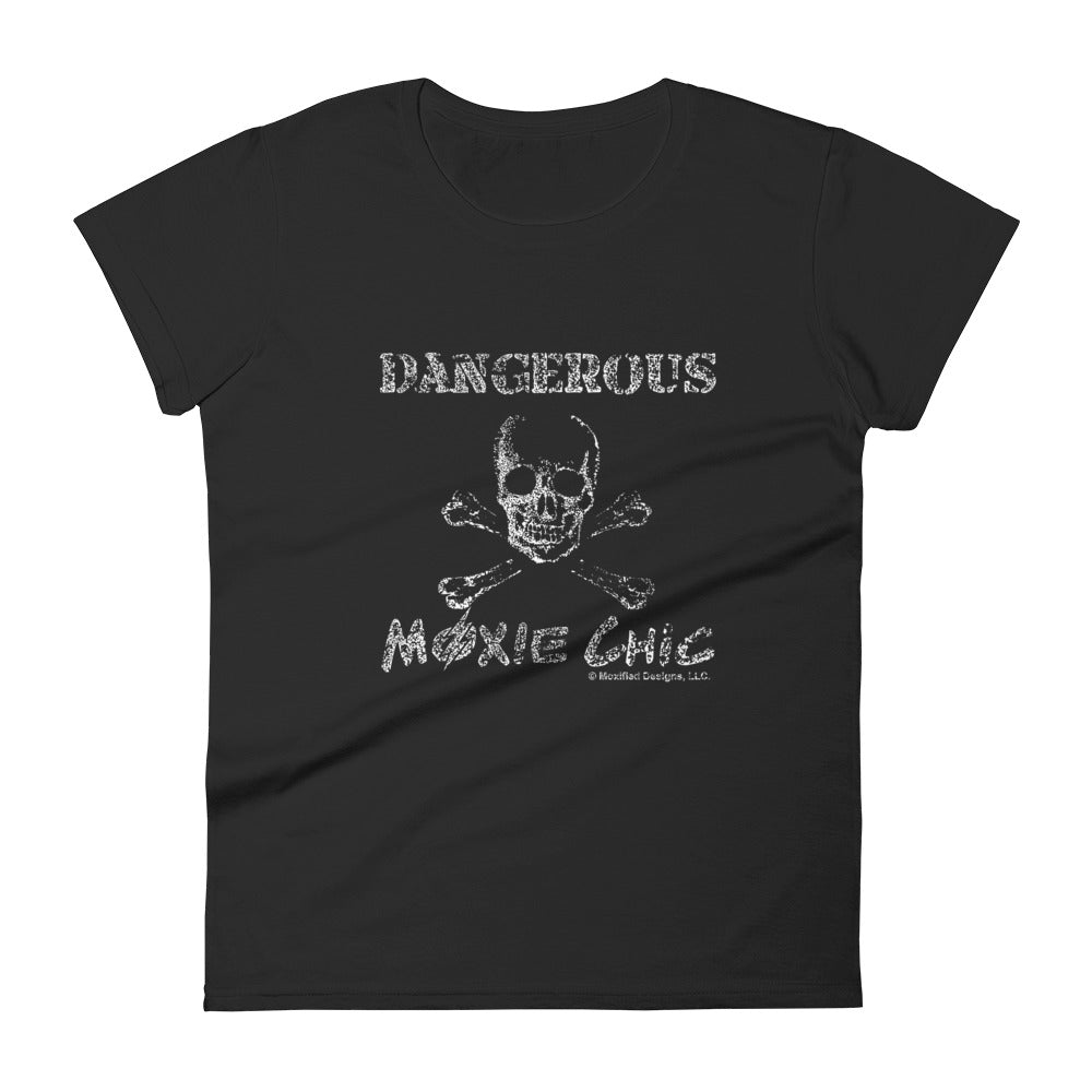 Dangerous Women's Semi-Fitted Tee (White Text)