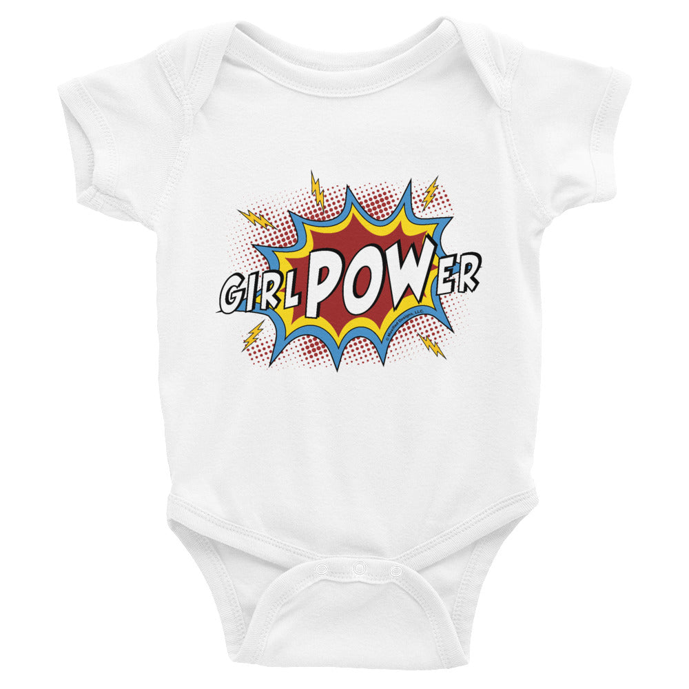 girlPOWer Infant Bodysuit (White Text, Multi Design)